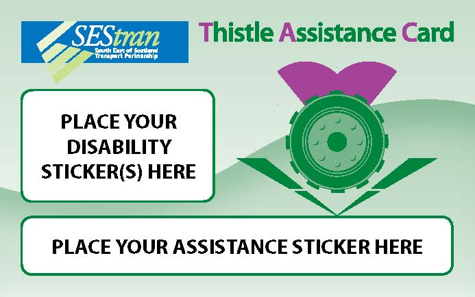 Thistle Assistance Card sample