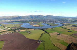Aerial view of Clackmannanshire