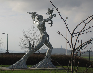 Photograph of Andy Scott's Sculpture at Muirside Roundabout, Tullibody