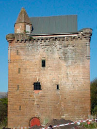 Sauchie Tower showing renovations