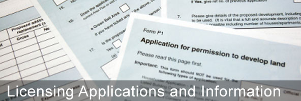 Licensing Applications and Information
