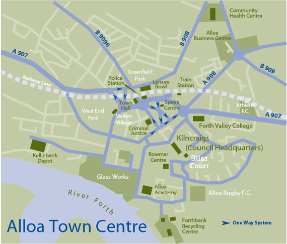 Map of Alloa Town Centre